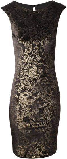 Jane Norman Velour Glitter Bodycon Dress - www.finditforweddings.com   ON SALE ...$42