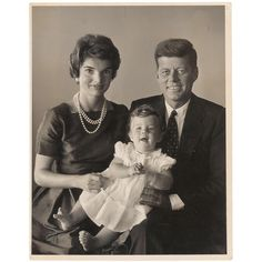 Jacqueline, John, and Caroline Kennedy, 1958