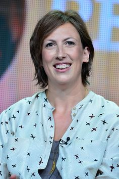 Actress Miranda Hart charmed television critics while discussing the third season of CALL THE MIDWIFE during the TCA summer Press tour. (photo: Rahoul Ghose/PBS)
