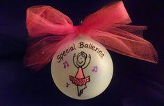 Ballerina,special ballerina,gift for ballerina,ballerina gift,personalized gift ornament for ballerina,christmas gift,dancer gift,dancer by Wurksfromtheheart on Etsy