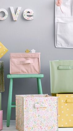 H&M Home|Home Inspiration|Cute storage boxes for little girls bedroom