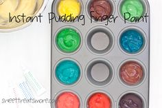 Instant Pudding Finger Paint- edible finger paint your kids will have so much fun with!