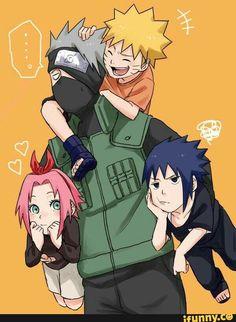 team7, sasuke, naruto, sakura, kakashi