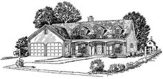This set of Country Houseplans is very sophisticated.