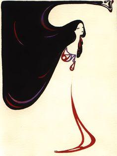 art nouveau black and red by ~pandora-stes on deviantART