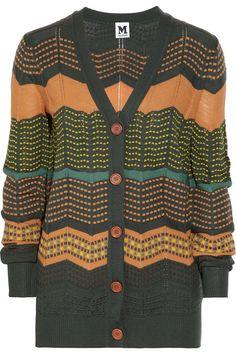 M Missoni|Zigzag crochet-knit cardigan|NET-A-PORTER.COM