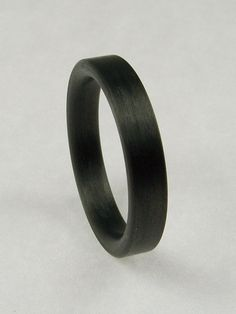 Mans Carbon Fiber Ring Comfort Fit Flat by MarkoftheMental