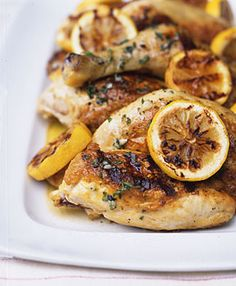 Grilled Chicken with Lemon, Garlic, & Oregano