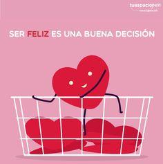 Ser feliz es una buena decisión, ¿tú que decides? http://frasesqueinspirantudia.estudiantes.info