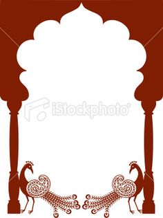 Mehndi Peacock Arch (Vector) Royalty Free Stock Vector Art Illustration