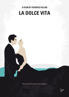 La Dolce Vita (1960) ~ Minimal Movie Poster by Chungkong #amusementphile