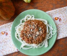 Pumpkin Meat Sauce (paleo, GF)  Pumpkin adds a rich creamy warmth to this Italian classic.