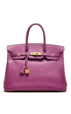 Hermes 35cm cyclamen & gold special order epsom birkin by HERITAGE AUCTIONS SPECIAL COLLECTION Preorder Now on Moda Operandi
