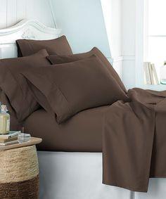 Chocolate Becky Cameron™ Six-Piece Sheet Set