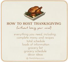 Thanksgiving: The Complete & Total Guide to Thanksgiving Dinner // The Stylist Quo