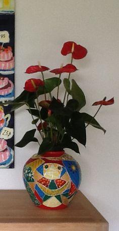 Vase malet med akrylmaling