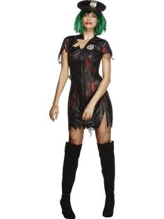 Halloween Sexy Zombie Police Cop Uniform Womens Ladies Fancy Dress S-L Cop Halloween Costume, Cop Costume, Halloween Horror, Halloween Outfits, Halloween Zombie, Cosplay Dress, Cosplay Costumes, Cop Outfit, Role Play Outfits