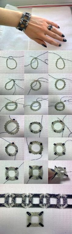 Square Beaded BraceletFree Diy Jewelry Projects | Learn how to make jewelry - beads.us