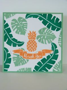 Carte remerciements, pop of paradise, stampin'up, fannystamp31