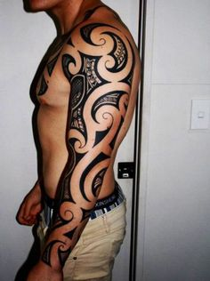 Tribal Tattoos For Guys Full Sleeve