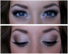 Gorgeous Natural Smokey Eyes. Wedding Makeup. , - harryideaz