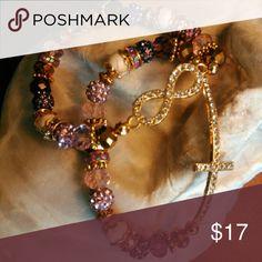 Cross/Infinity Rhinestone crystal set (2) Set of Rhinestone crystal gemstone bracelets Honeylambjewelry.com Jewelry Bracelets