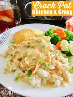 Crock Pot Chicken and Gravy. Add carrots and peas? Serve with steamed veggies over rice