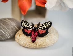 Купить Kali - черный, красный, винный, бордовый, белый, слоновая кость, бабочка, мотылек