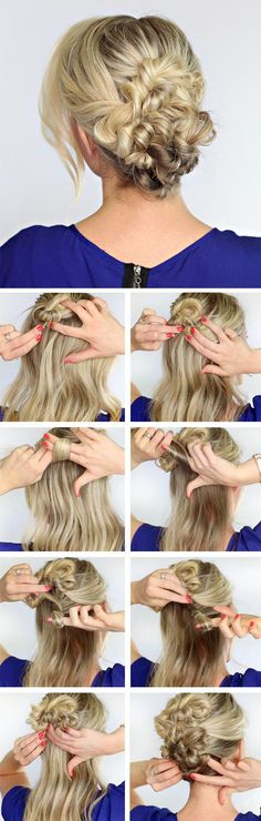 Twisted Hair Flower  | Makeup Mania