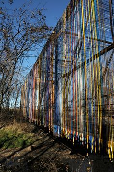 Passage | Forecast Public Art  Create passage ways or rope off spaces with colorful string