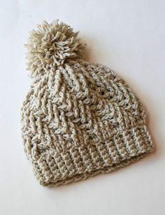 Stepping Texture Hat By Bernat Design Studio - Free Crochet Pattern - (ravelry)