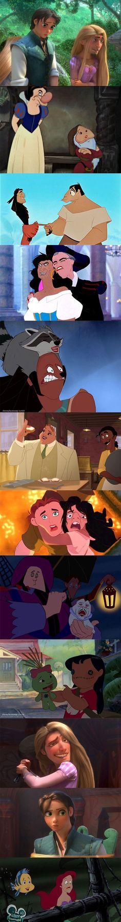 Disney face swap is too freaky...