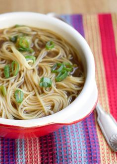noodle soup- I'd want to add some beef and veggies to this, but seems like a good base to try