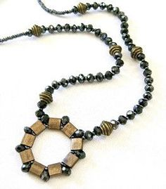 awesome DIY Bijoux - Bright and Muted Tila Bead Necklace Check more at https://listspirit.com/diy-bijoux-bright-and-muted-tila-bead-necklace/