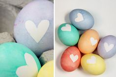 DIY heart eggs   (from Lovely Indeed for The Sweetest Occasion)