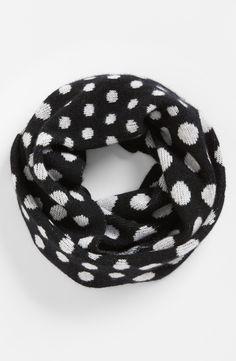 Dot cashmere infinity scarf.