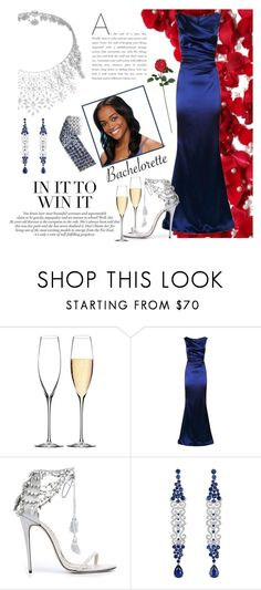 """Bachelorette"" by lady-madhatter ❤ liked on Polyvore featuring Waterford, Talbot Runhof, Marchesa and Nearly Natural"