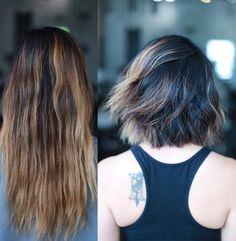 C H A N G E S . . . #softundercut #beforeandafter #haircut #nyc #livedinhair #anhcotran by anhcotran