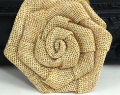 Brown burlap flowers Fabric flowers by diysuppliesandkits