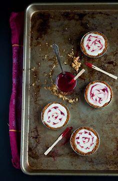 Mason Jar Lid Tarts: White Chocolate Raspberry from @DessertForTwo
