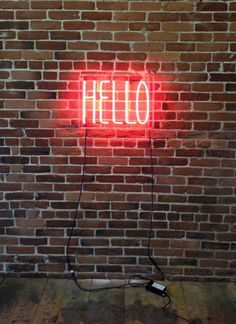 'HELLO' Neon sign - The mint list