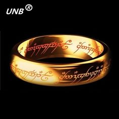 2016 Midi Ring Tungsten One Ring of Power Gold the Lord of Ring Lvers Women and Men Fashion Jewelry Wholesale Free Drop ship ** This is an AliExpress affiliate pin.  Clicking on the image will lead you to find similar product on AliExpress website
