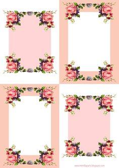 Free printable vintage rose stationery - ausdruckbare Rosenkarten - freebie | MeinLilaPark – DIY printables and downloads