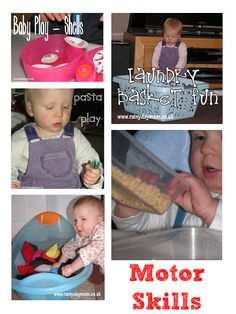 fine and gross motor activities for the under 18 months that you can do at home