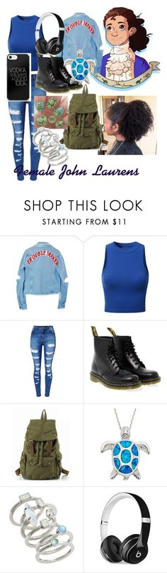 """Modern Hamilton au: John Laurens"" by donnielover ❤ liked on Polyvore featuring High Heels Suicide, Doublju, WithChic, Dr. Martens, Kendra Scott, Beats by Dr. Dre and modern"