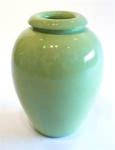 """Bauer Pottery #100 Chartreuse 16"""" Oil Jar"""
