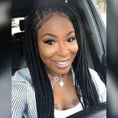 Braided Lace Wig Goddess Box Braid, Lace Front Wig With Curly Tip Ends Color Ombre - All For Hairstyles Bob Box Braids Styles, Box Braids Styling, Braid Styles, Curly Hair Styles, Cornrows With Box Braids, Long Box Braids, Braids Wig, Purple Box Braids, Quick Braids