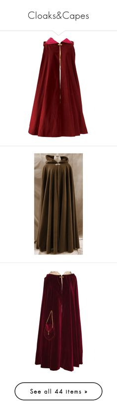 """""""Cloaks&Capes"""" by adorablequeen ❤ liked on Polyvore featuring medieval, cloaks, capes, outerwear, jackets, cape, coats, black, wool blend cape and cape coat"""