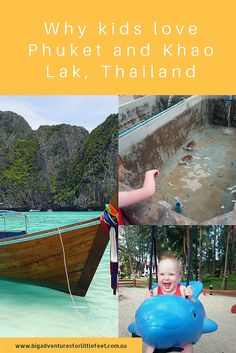 with kids; Need help with planning a trip to Phuket or Khao Lak for your next family trip; all the best advice and places to stay in Phuket with kids Thailand Travel Tips, Phuket Thailand, Asia Travel, Travel List, Travel With Kids, Family Travel, Family Vacations, Best Family Holiday Destinations, Beaches In Phuket