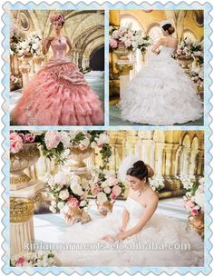 New Arrival Luxurious High Quality Coloured Wedding Dress